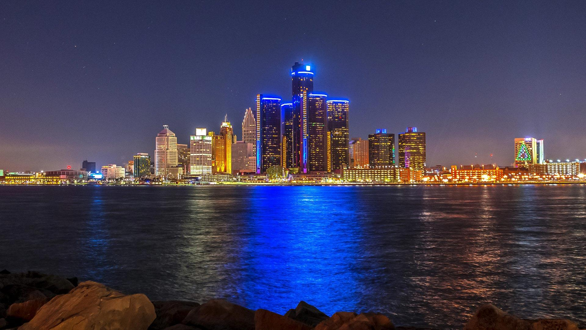 Compressed Detroit Skyline