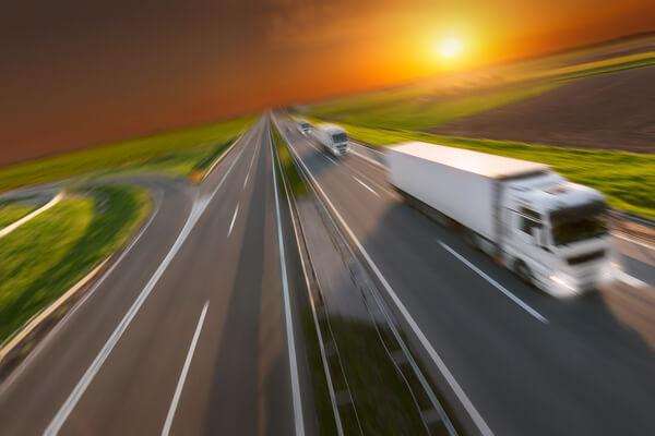trucks driving on left lane