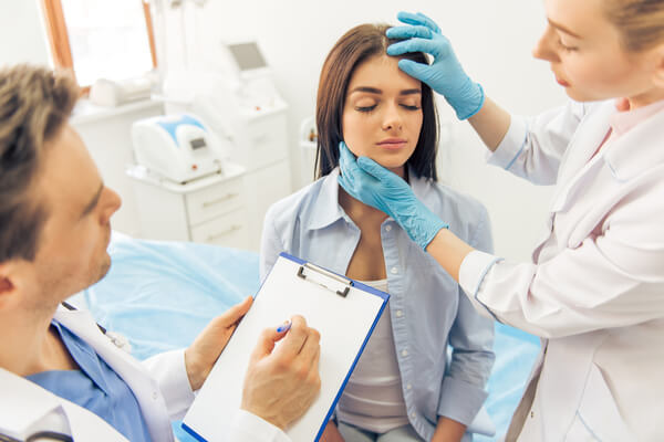 woman getting prepared for surgery