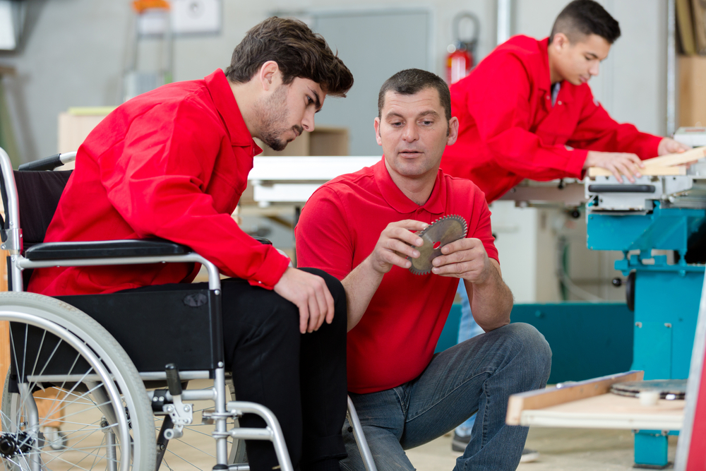 disabled worker and employer