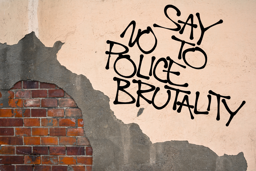 say no to police brutality